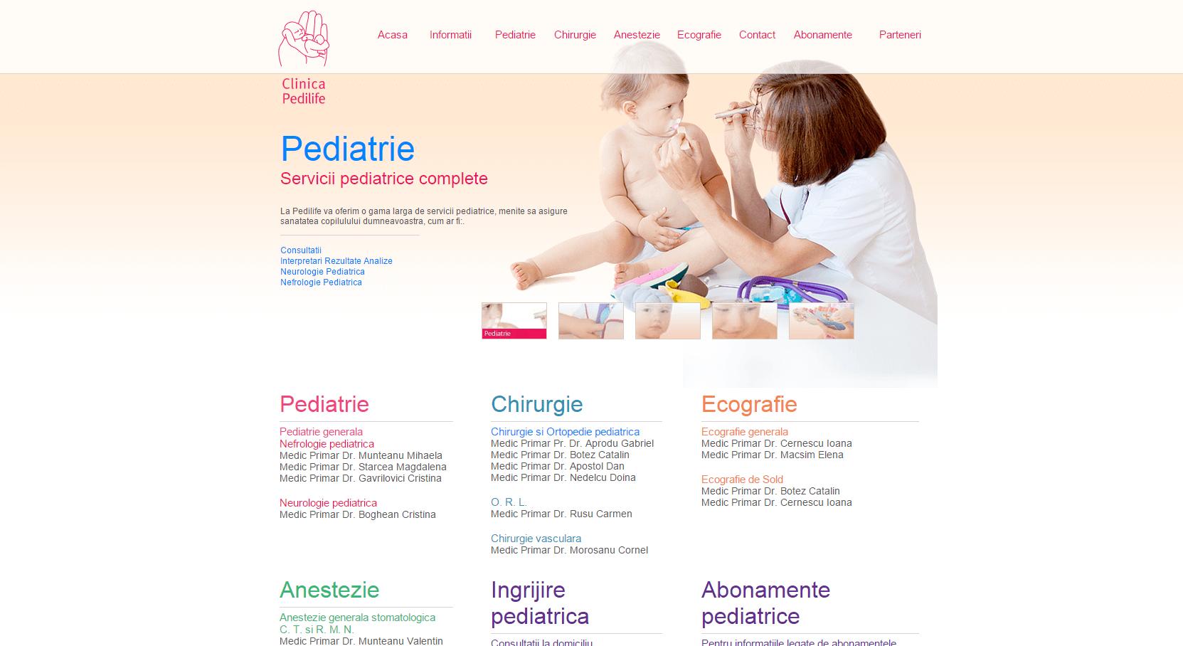 Pedilife clinica pediatrica echografie de sold chirurgie pediatrica ecografie Aprodu Gabriel